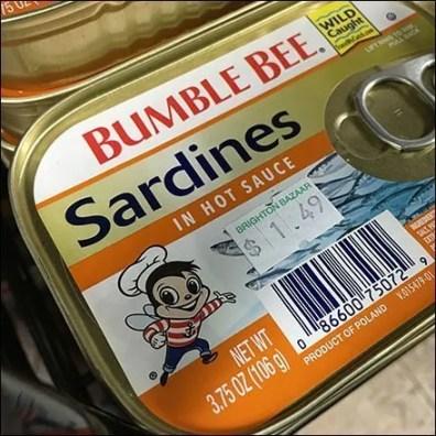 Bumble Bee Sardines Hot Sauce Merchandising
