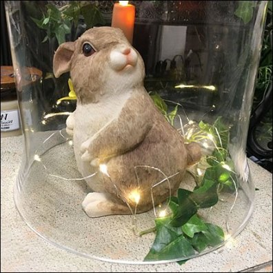 Bunny Bell Jar Visual Merchandising Feature2