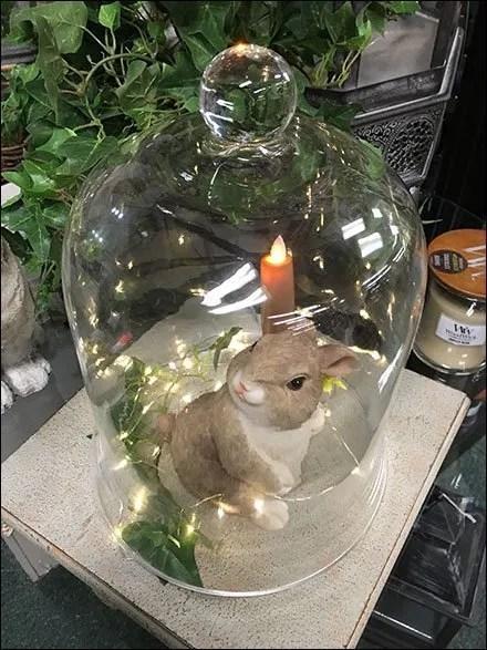 Bunny Bell Jar Visual Merchandising