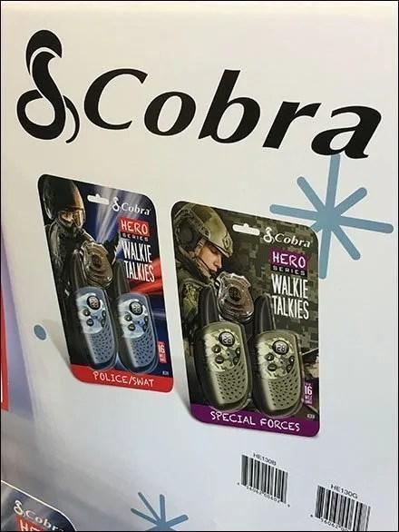 Cobra Walkie Talkie Hero Display