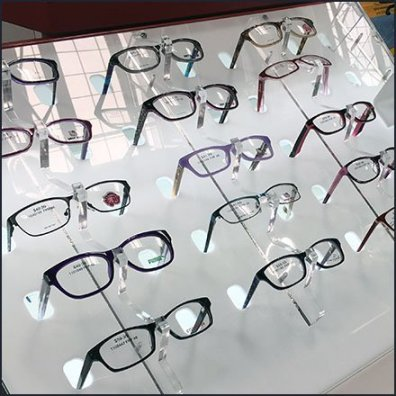 Declined Eyeglass Selection Backlit Display