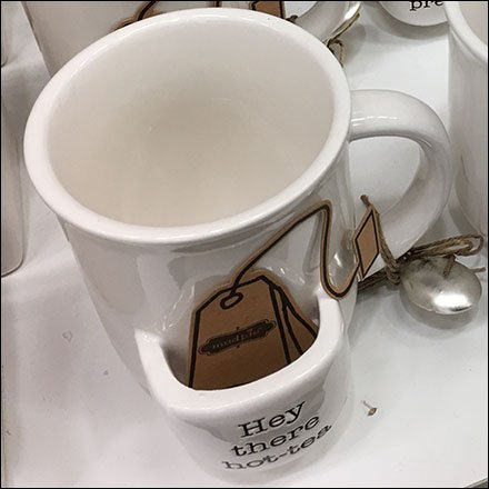 Die-Cut Tea Bag Sells Tea Cup Caddy