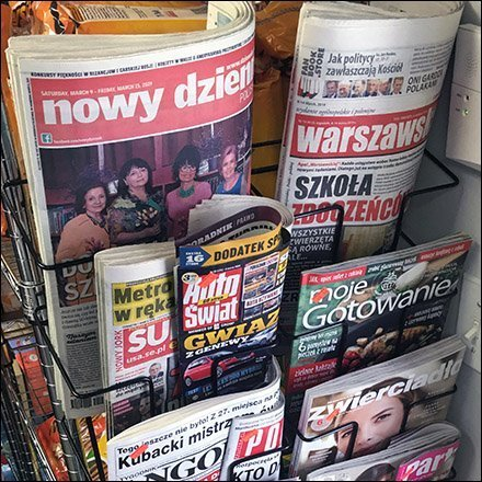 Ethnic Grocery Polish Newspaper Rack