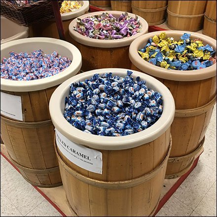 European Candy Bulk Barrel Merchandising Aux