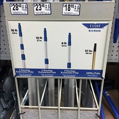 Get the Right Extension Pole Divided Rack