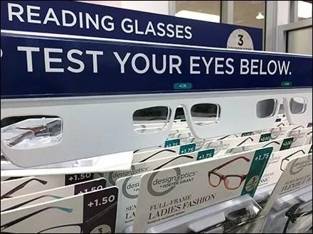 Foster Grant Reading Glasses Built-In Eye-Test