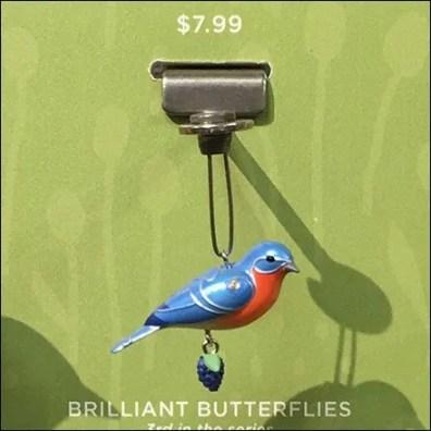 Eastern Bluebird Ornament Hallmark Display Hook