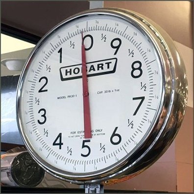 Hobart Hanging Dial Scale for Produce Feature