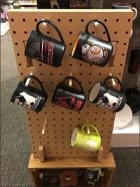Wood Peg Pegboard Freestanding Mug Display