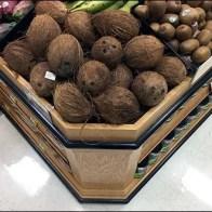 Fresh Coconut Display Cutting Corners