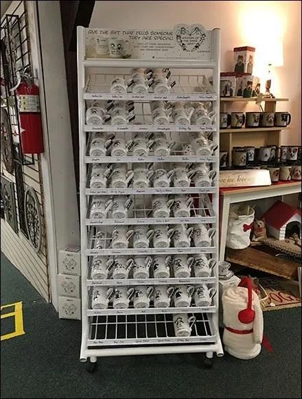 Motivational Mug Gravity Feed Display Rack