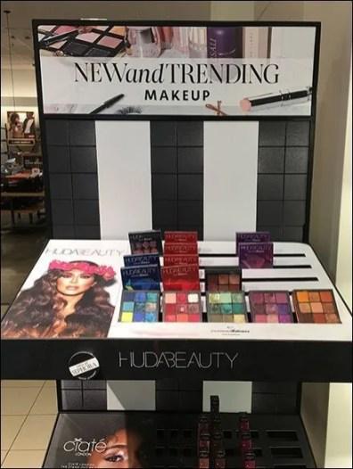 Trendy Cosmetics Display