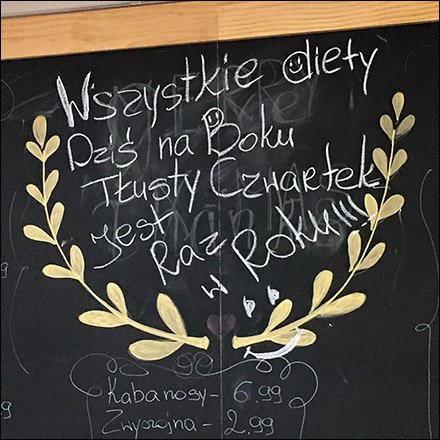Ethnic Polish Deli Chalkboard Specials List