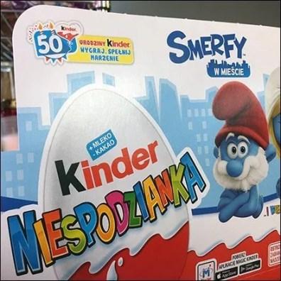 Polish Smurf Kinder Joy Merchandising