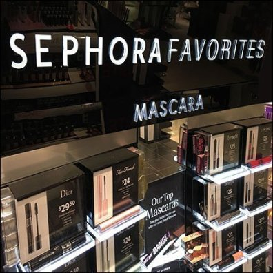 Sephora Mascara Favorites Edge-lit Display
