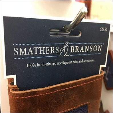 Smathers & Branson Needlepoint Beer Can Spinner