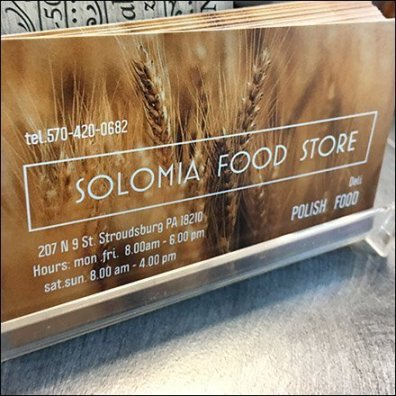 Solomia Polish Delicatessen Business Card Holder