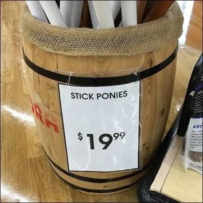 Stick Pony Burlap-Lined Barrel Bulk Bin