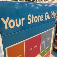 Oversize Store Guide Map At Entry