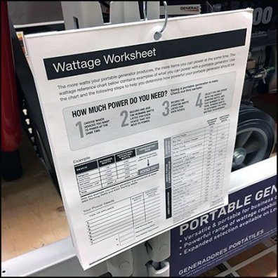 Generator Wattage Calculations