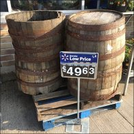 Used Wood Barrel Recycling Feature