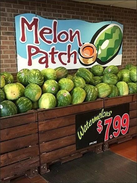 Watermelon Melon Patch Merchandising En Masse
