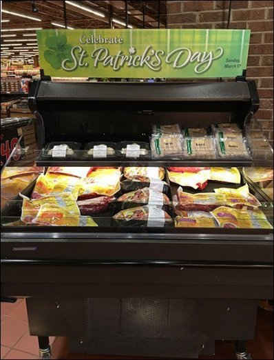 St. Patrick's Day Mobile Cooler Merchandising