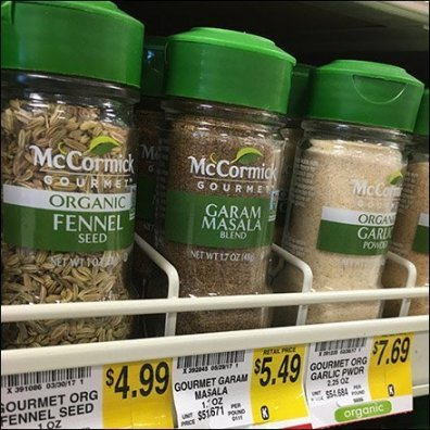 McCormick Gravity Feed Wood Spice Rack
