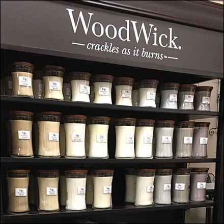 Wood Candle Merchandising