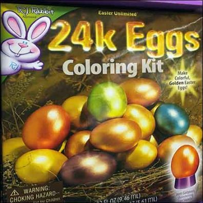 24K Gold Easter Egg Coloring Kit Display