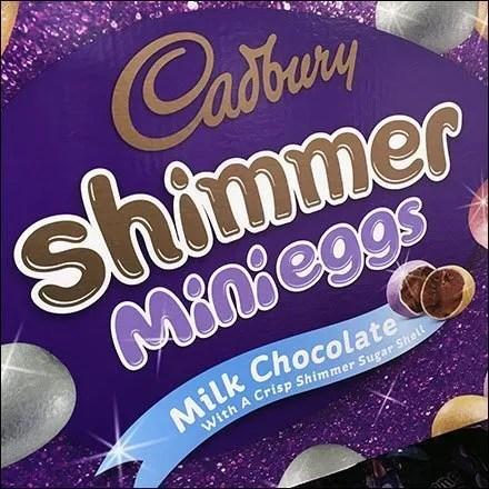 Cadbury Shimmer Egg Bulk Bin Stacker Display