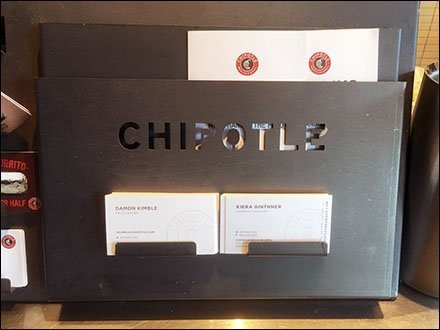 Chipotle Mexican Grill Outfitting - Chipotle Die-Stamped Business Card Holder