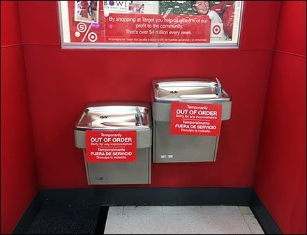 Dual Water Fountains Out-of-Order Simultaneously