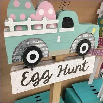 Easter Egg Hunt Endcap Sign Merchandising