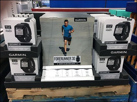 Garmin Forerunner Watch Pallet-Top Display