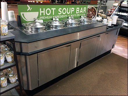 Grab-And-Go Soup Bar Outfitting Countertop