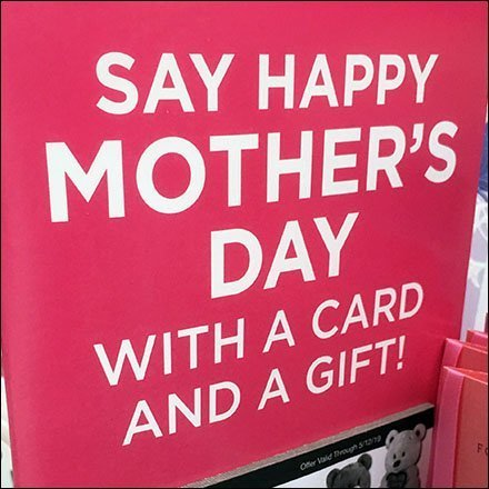 Happy Mother's Day Island Display Feature