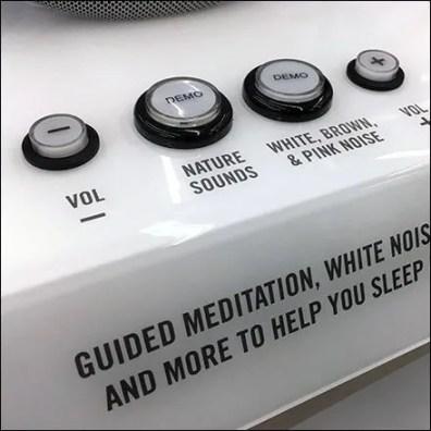 Homedics Sleep Solutions Try-Me Controls
