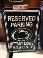 Penn State Nittany Lions Reserved Parking