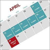 Passover Showroom Schedule Calendar