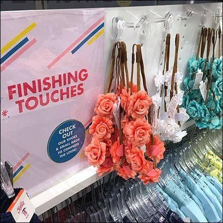 Finishing Touches Plastic Pegboard Display