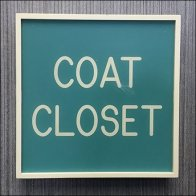 Sign System Consistency - Clothes Closet Signs Aux