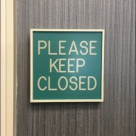 Sign System Theme - Please Keep Closed