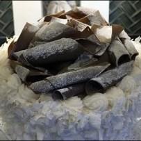 Chocolate Shaving Vanilla Cake Showroom Prop