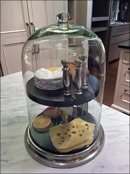 Showroom Cheese Board Bell Jar Prop Presentation