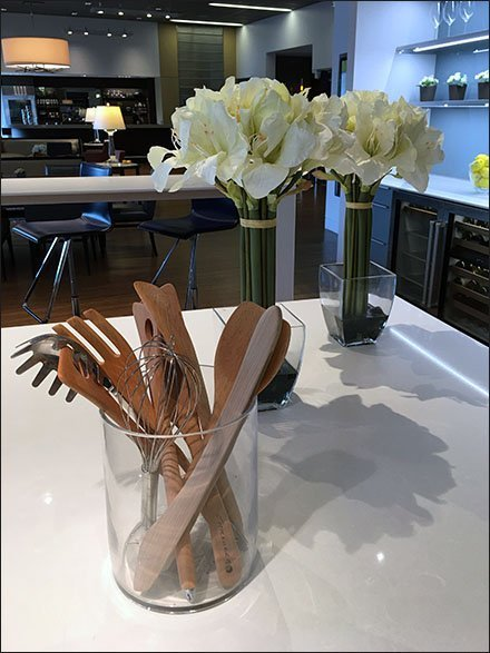 Floral Support for Showroom Cooking Utensils