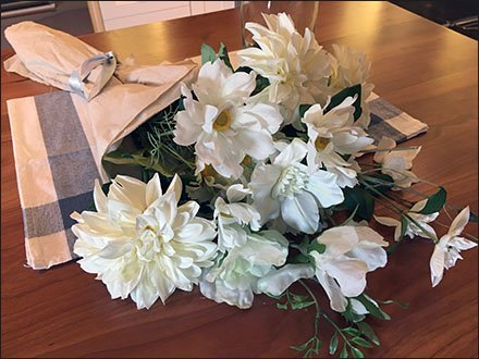 Fresh Cut Kitchen Flowers Showroom Props