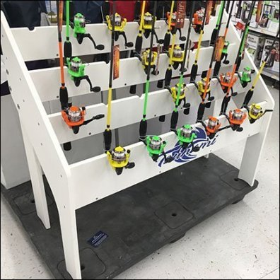 Tsunami Fishing Pole Pallet Display Feature