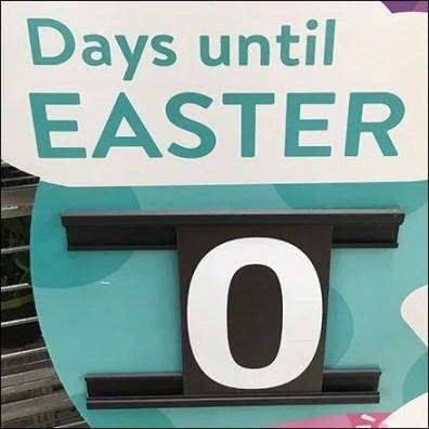 Zero Days Until Easter Countdown