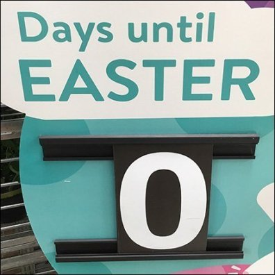 Zero Days Until Easter Countdown